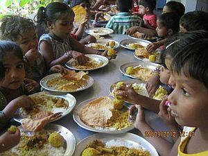 Lunch at Garden School