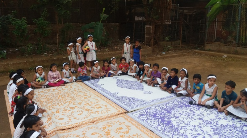 Fort Convent Pre-Primary class 1st A and B students along with their teachers had a outreach programme with the Garden school students KG. A and KG.B