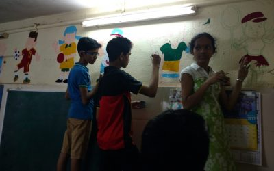 Holy Name Students offered to paint our three KG Class Rooms with educational values during the Christmas Vacation