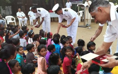 Ichapurti Ganga INS navy force visit Premdan and donated Gifts