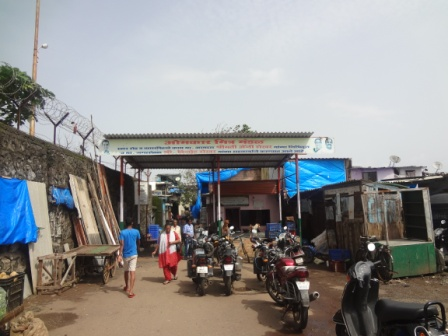 Main entrance of the Slum
