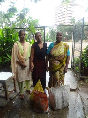 Food distribution at Garden school