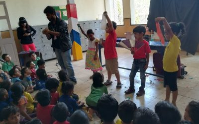 The PTA members of the Campion School organized a magic show and games for our Garden school children followed by few gifts.