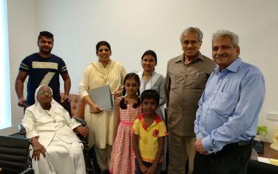 Mother Felicity rjm,Sr.Sylvia rjm,and Sr.Asha rjm along with two sponsored children went to wish Mr. Krishna kumar on his birthday.