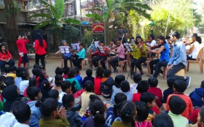 AFJM's from St. Anne's Mumbai conducted a music show led by Ms. Allana   and team followed by a few games and snacks were served on the occasion of the feast of St. Claudine Thevenet to reach out with love.
